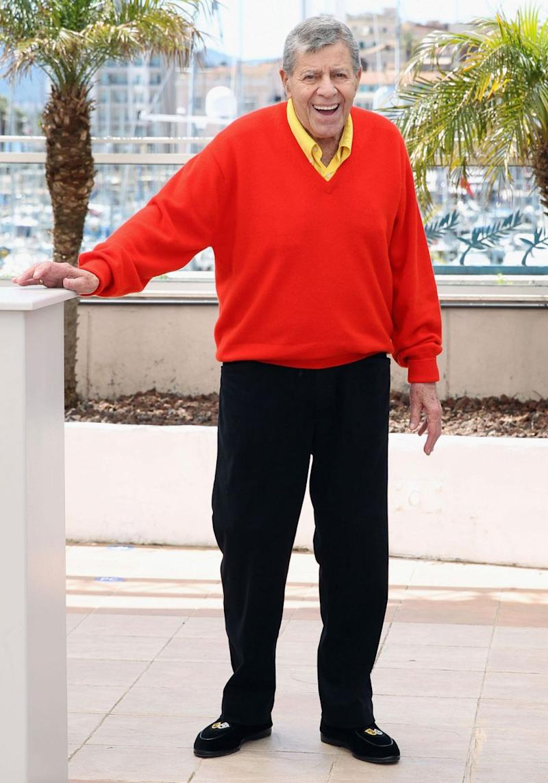 Back in 2009, paternity test results revealed there was 88.7 per cent certainty that Jerry Lewis was Suzan's father - Jerry pictured in 2013. Source: Getty