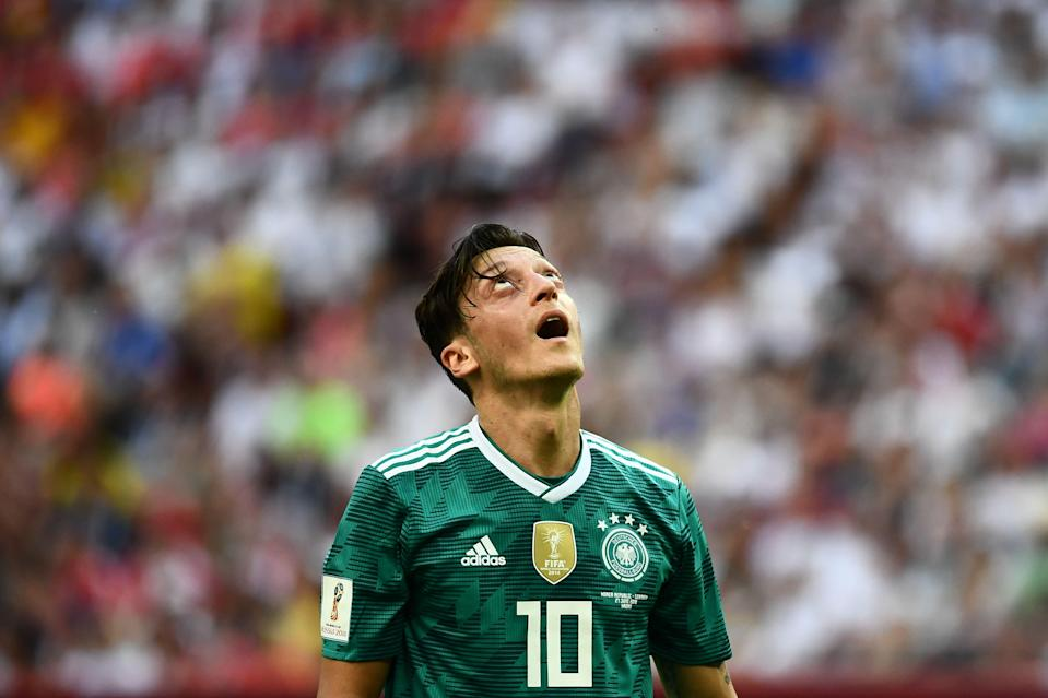Mesut Ozil and Germany crashed out of the 2018 World Cup at the group stage. A month later, Ozil retired from national team duty. (Getty)