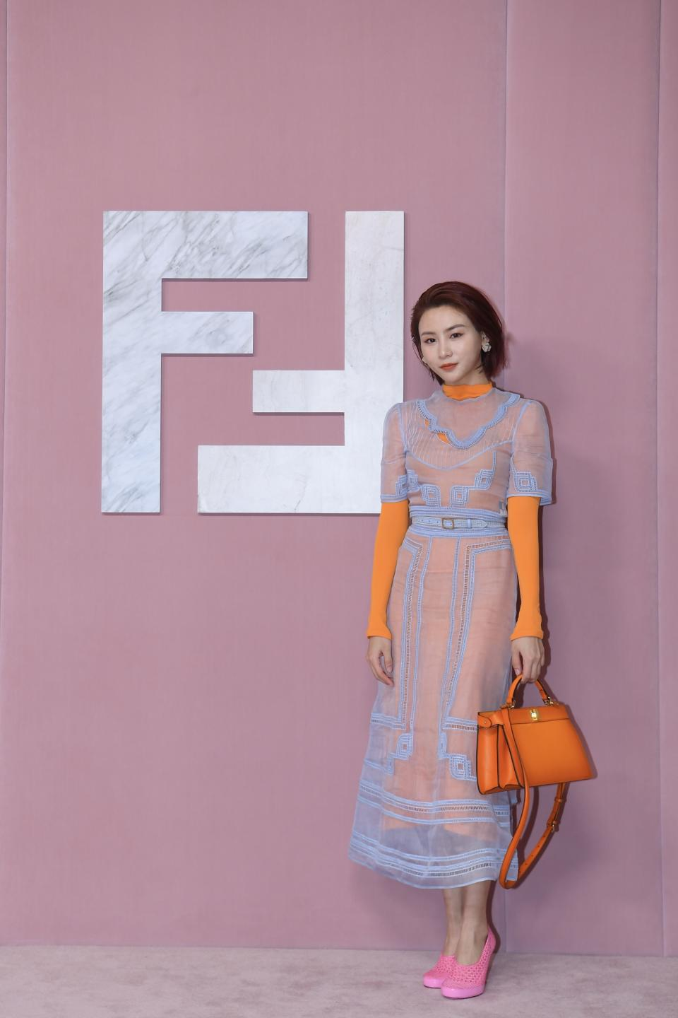 Influencer Wei Sijia at Fendi Shanghai show. (PHOTO: Fendi)