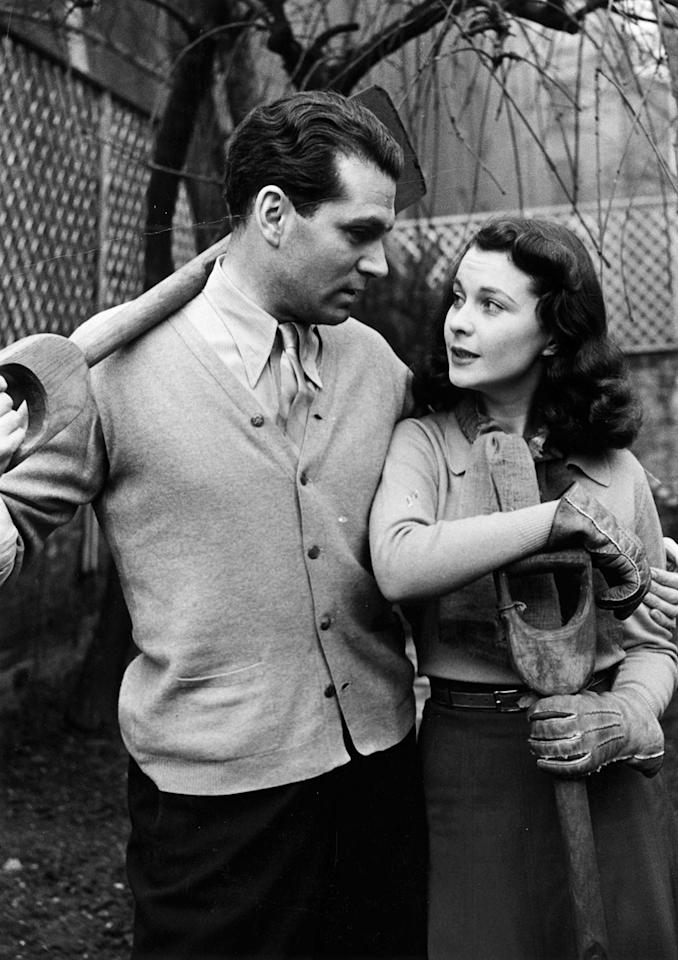 <p>These two British stars are pictured together in 1941, a year after they were married.</p>