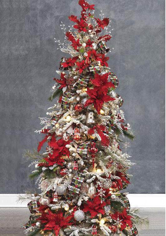 Flower covered christmas trees are the hot holiday trend for Where can i buy a red christmas tree