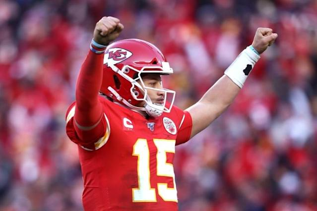 Patrick Mahomes led the Kansas City Chiefs into their first Super Bowl appearance since 1970 on Sunday (AFP Photo/JAMIE SQUIRE)
