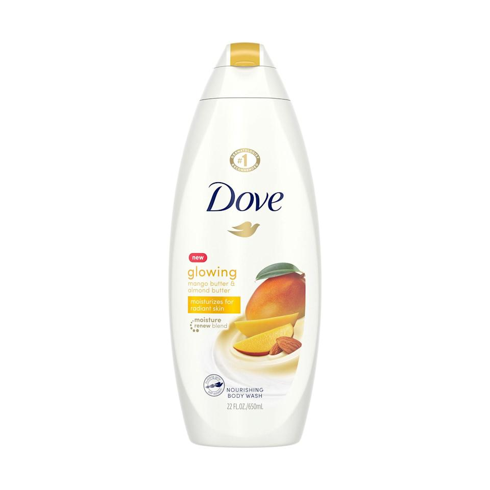"<p>""Mango-scented anything is enough to get me on board, but I really fell in love with Dove's Glowing Mango & Almond Butter Body Wash Soap after feeling how effing soft my skin was after I toweled off post-shower. Of course, I still apply my lotion, but this wash gives me a nice, pre-moisturized base, which I think makes my <a href=""https://www.allure.com/gallery/best-body-lotion-for-moisturizing-dry-skin?mbid=synd_yahoo_rss"" rel=""nofollow noopener"" target=""_blank"" data-ylk=""slk:typical moisturizers"" class=""link rapid-noclick-resp"">typical moisturizers</a> last longer. Plus, hello, it makes my shower smell like a delicious drink I can't wait to spike with some rum."" — <em>Jihan Forbes, editor</em></p> <p><strong>$6</strong> (<a href=""https://www.amazon.com/Glowing-Revitalizes-Refreshes-Butter-Sulfate/dp/B083732DHX"" rel=""nofollow noopener"" target=""_blank"" data-ylk=""slk:Shop Now"" class=""link rapid-noclick-resp"">Shop Now</a>)</p>"
