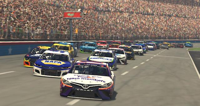 "The iRacing simulators require drivers to make all the same decisions as if they were driving in an actual race, except all their cues are visual since you don't actually feel the movement of the car. <span class=""copyright"">(Getty Images)</span>"