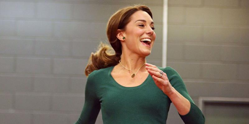 Kate Middleton goes casual-chic in green Zara culottes for SportsAid event