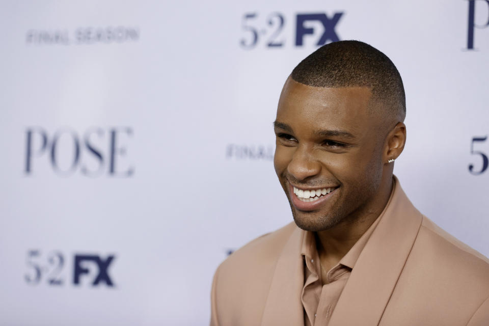 Dyllón Burnside at the FX's Pose Season 3 New York premiere in April. (Photo: Jamie McCarthy/Getty Images)