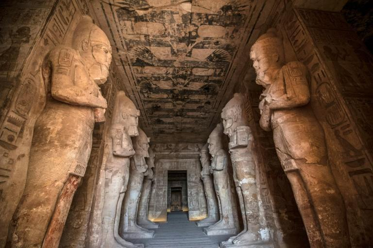 The Ramses II Temple at the archeological site of Abu Simbel in southern Egypt; the three-millenia old temples were moved in a giant rescue mission before they were drowned by rising waters in Lake Nasser