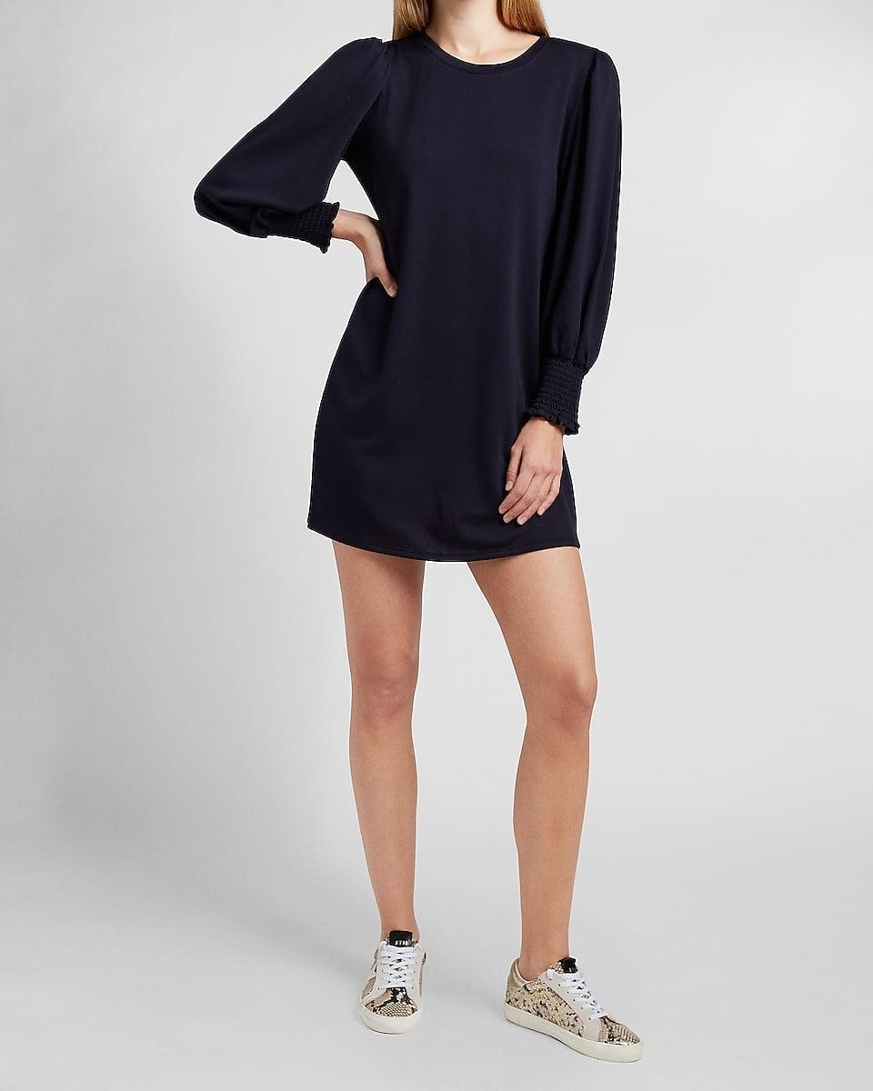 <p>Here's your new work-from-home uniform: the <span>Soft Smocked Sleeve Shift Dress</span> ($78).</p>