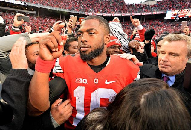 J.T. Barrett and the Buckeyes' next game will likely be in the College Football Playoff. (Getty)