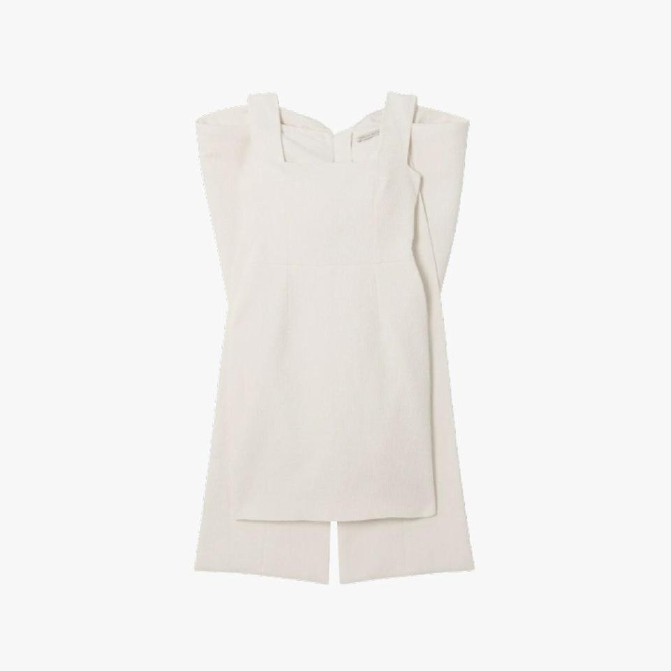"$1950, NET-A-PORTER. <a href=""https://www.net-a-porter.com/en-us/shop/product/emilia-wickstead/drusilla-bow-detailed-cloque-mini-dress/1249090"" rel=""nofollow noopener"" target=""_blank"" data-ylk=""slk:Get it now!"" class=""link rapid-noclick-resp"">Get it now!</a>"