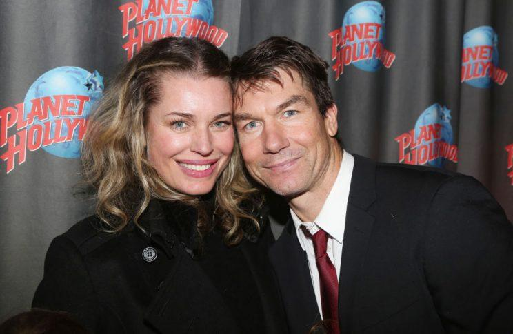 Rebecca Romijn and Jerry O'Connell at the after party for Manhattan Concert Production's Broadway Series