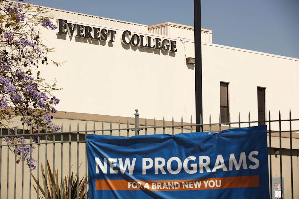 Everest College, a part of Corinthian Colleges Inc., one of the nation's largest for-profit college chains, shut down in 2015. (Photo by Al Seib / Los Angeles Times via Getty Images)