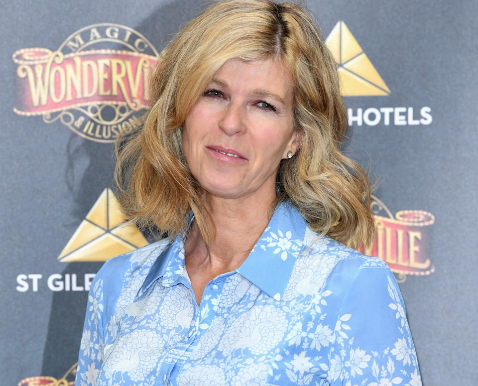 Kate Garraway attended the opening of 'Wonderville' magic show in London's West End with her family. (Getty Images)