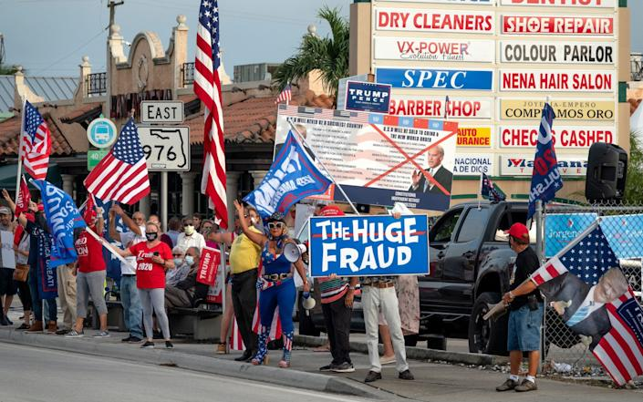 Demonstration supporting Trump in Miami, Florida - Shutterstock