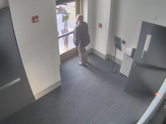 Mike Nearman was seen in security footage opening a door to protesters which had been closed to the public (YouTube)