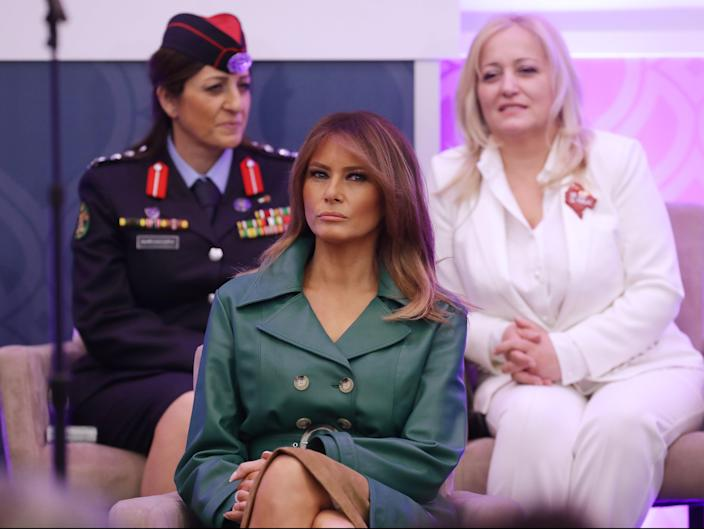 First lady Melania Trump attends the International Women of Courage Awards in 2019 (Getty Images)