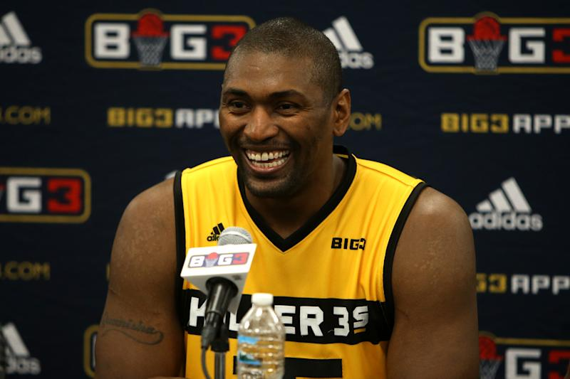 9830221eb Metta World Peace ejected for punting basketball at BIG3 game