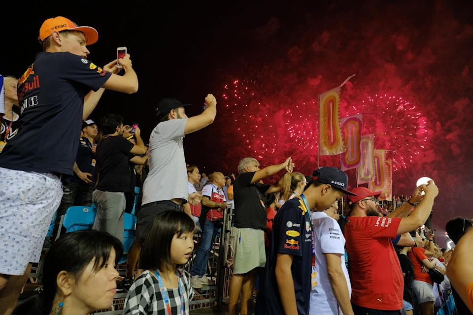 Fireworks break out after the end of the Grand Prix. (PHOTO: Singapore GP)