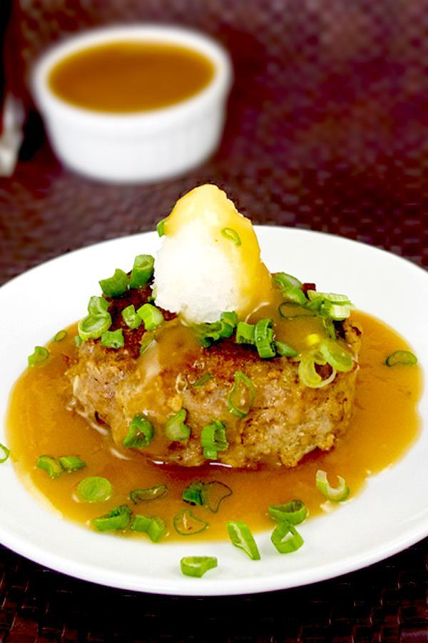 """<p>This isn't your typical school cafeteria Salisbury steak! This is an easy Japanese Salisbury steak recipe your kids will love! Enjoy it with a side of corn and mashed potatoes. This recipe takes only 25 minutes from start to finish! <i>[Image: Pickled Plum]</i></p><p>Get the recipe from: <b><a href=""""http://www.pickledplum.com/japanese-salisbury-steaks-hamburg-%E3%83%8F%E3%83%B3%E3%83%90-%E3%82%B0/"""" rel=""""nofollow noopener"""" target=""""_blank"""" data-ylk=""""slk:Pickled Plum"""" class=""""link rapid-noclick-resp"""">Pickled Plum</a></b></p>"""