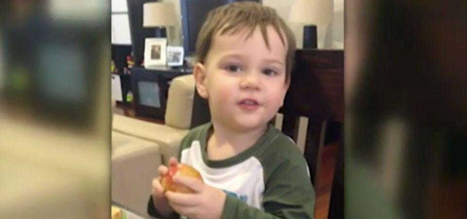 Lachlan had come down with a fever and a rash. Source: 7 News