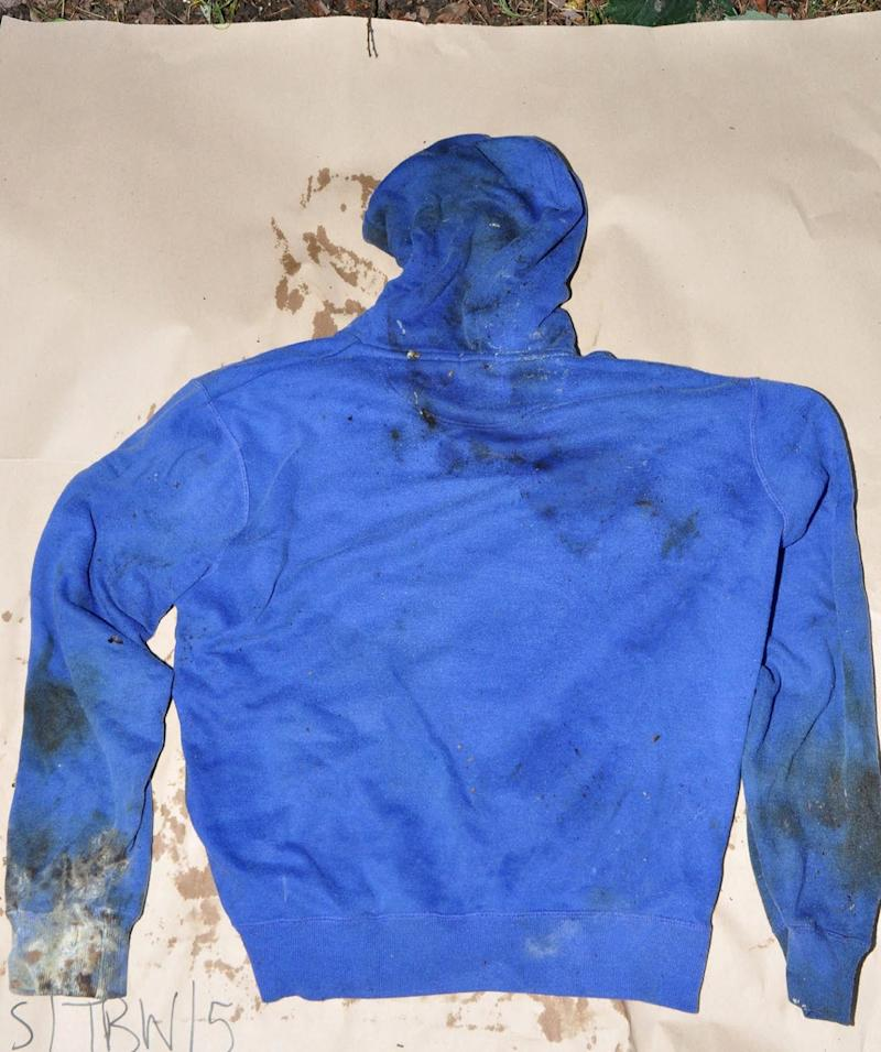 Clothing containing DNA profiles from both Lucy and defendant Stephen Nicholson, was shown to the jury (Hampshire Constabulary)