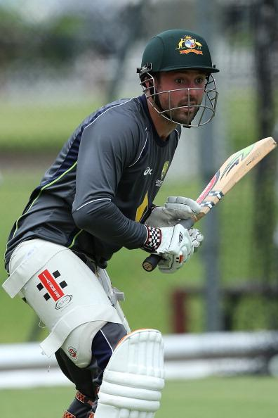 BRISBANE, AUSTRALIA - NOVEMBER 06:  Ed Cowan bats during an Australian nets session at The Gabba on November 6, 2012 in Brisbane, Australia.  (Photo by Chris Hyde/Getty Images)