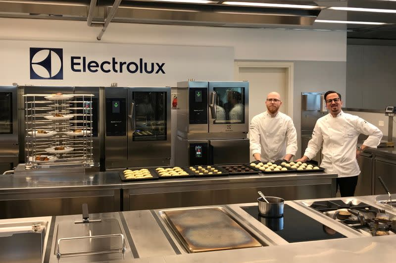Interiors of Electrolux R&D facility are pictured at their plant in Pordenone