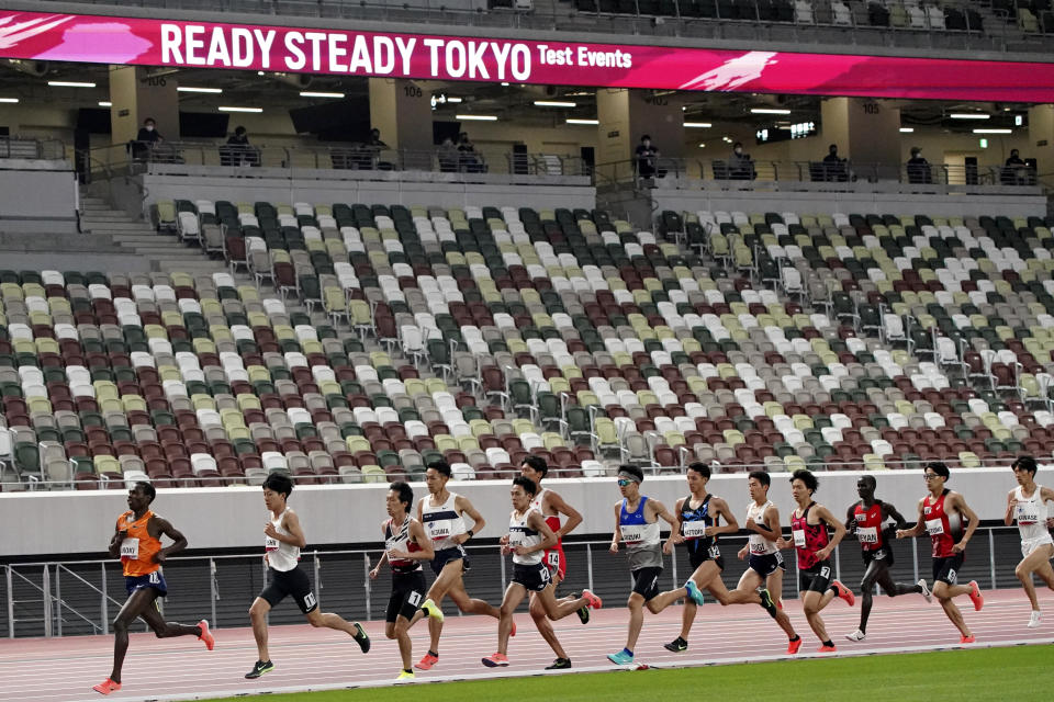 Fans will be banned from Tokyo-area stadiums and arenas when the Olympics begin. (AP)