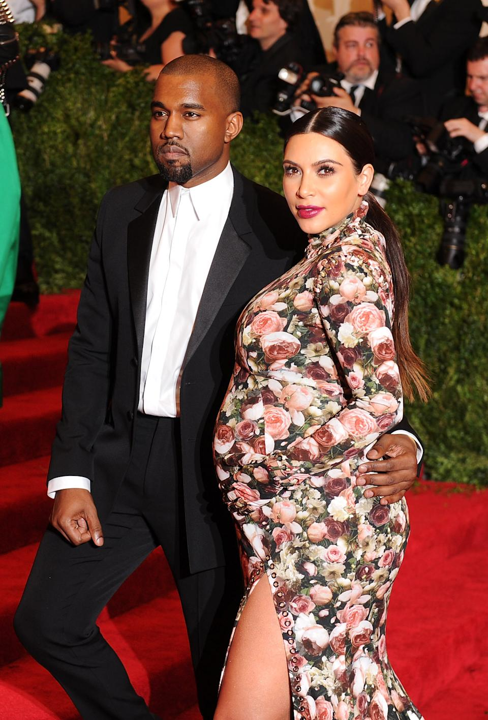 Kanye West and Kim Kardashian attend the Costume Institute Gala for the