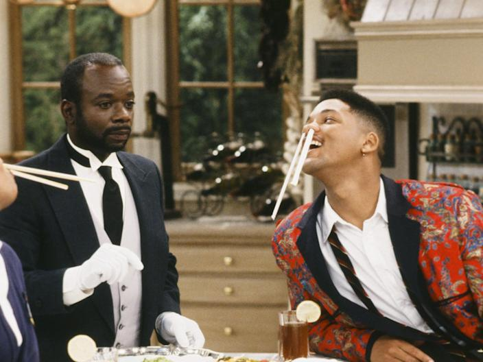 Marcell and Smith as Geoffrey and Will.