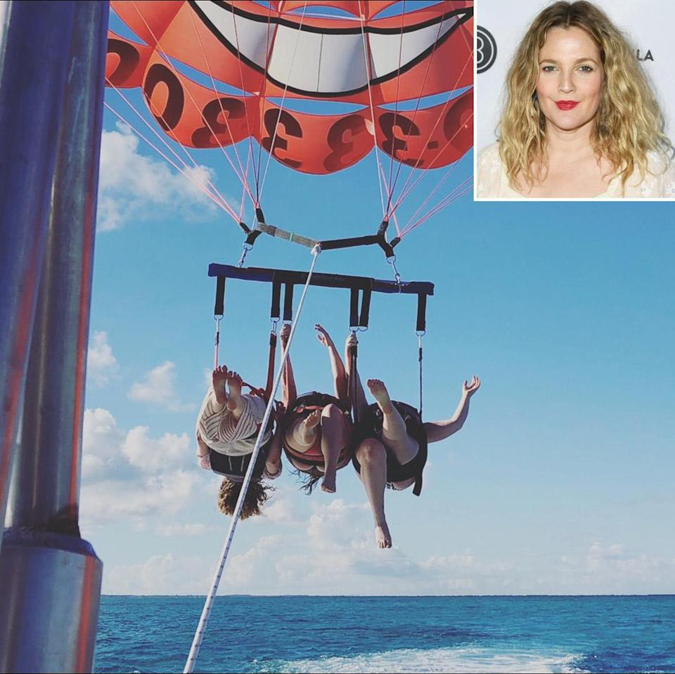 """<p><strong>Location:</strong> Turks and Caicos</p> <p>Drew Barrymore was feeling """"truly spoiled"""" after checking in to this island retreat in the Caribbean. """"From sunrise to sunset, this place stole our hearts!,"""" she captioned a pair of photos of the ocean view and private pool and her crew doing some parasailing. """"Thank you for treating me to the best weekend with my girls. How amazing is this view?!""""</p>"""