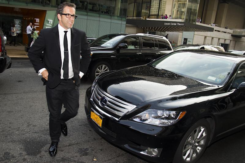 IMAGE DISTRIBUTED FOR LEXUS -Kenneth Cole arrives in a Lexus at the 2013 CFDA Fashion Awards on Monday, June 3, 2013 in New York. (Photo by Charles Sykes/Invision for Lexus/AP Images)