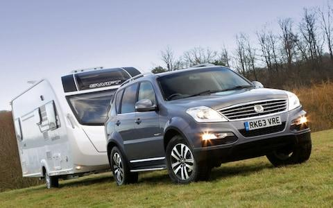 SsangYong and caravan