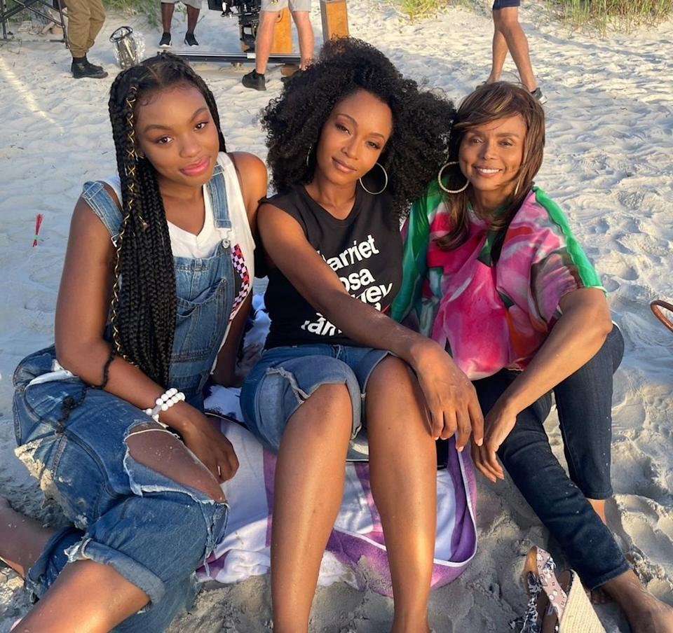 """<p>Yaya DaCosta making her mark on Martha's Vineyard? Obviously we're tuning in. Here, the <em>Chicago Med</em> star smiles for <a href=""""https://www.instagram.com/p/CTzhZyUNh6P/"""" rel=""""nofollow noopener"""" target=""""_blank"""" data-ylk=""""slk:a sandy shot"""" class=""""link rapid-noclick-resp"""">a sandy shot</a> with costars Alana Bright (left) and Debbi Morgan (right). <em>Premieres Sept. 21 on Fox. </em></p>"""