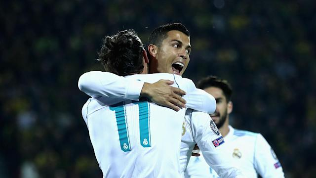 Cristiano Ronaldo and Gareth Bale had Real Madrid humming in the Champions League. (Goal.com)