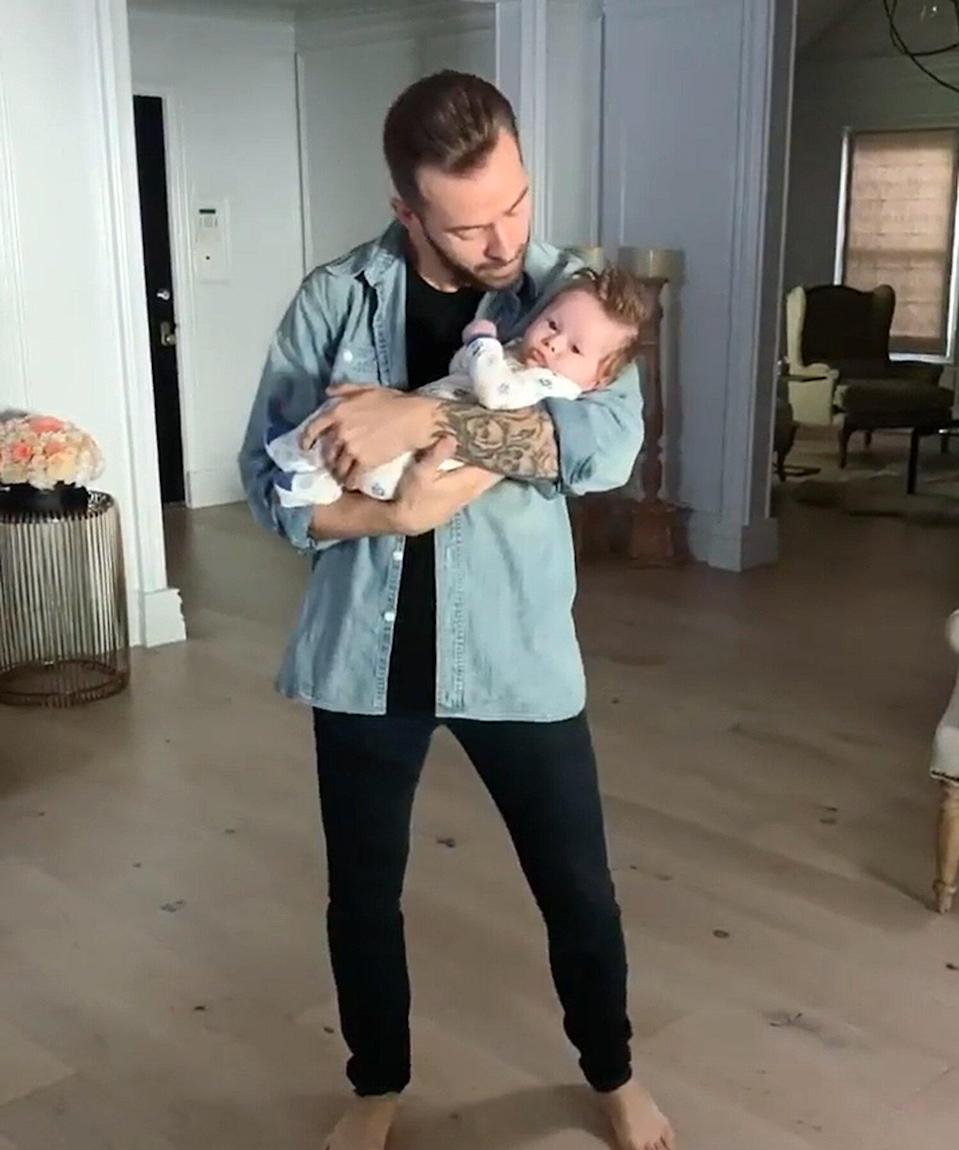 DWTS Pro Artem Chigvintsev Dances with Baby Matteo in Sweet Video: 'Monday Mornings'