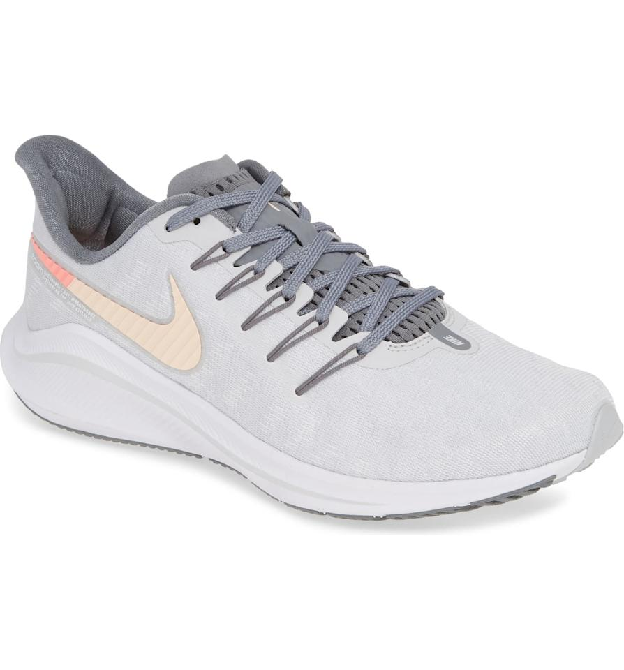 "<p><strong>NIKE</strong></p><p>nordstrom.com</p><p><strong>$99.90</strong></p><p><a href=""https://go.redirectingat.com?id=74968X1596630&url=https%3A%2F%2Fshop.nordstrom.com%2Fs%2Fnike-air-zoom-vomero-14-running-shoe-women%2F5031527&sref=http%3A%2F%2Fwww.prevention.com%2Ffitness%2Fworkout-clothes-gear%2Fg28455126%2Fnordstrom-anniversary-sale-walking-running-shoes%2F"" target=""_blank"">SHOP NOW</a></p><p>Go the distance with these durable training shoes from Nike. Whether you're walking or running, these <strong>lightweight, cushioned sneakers will put a spring in your step during any workout</strong>. The padded collar ensures long-lasting comfort.<br></p>"