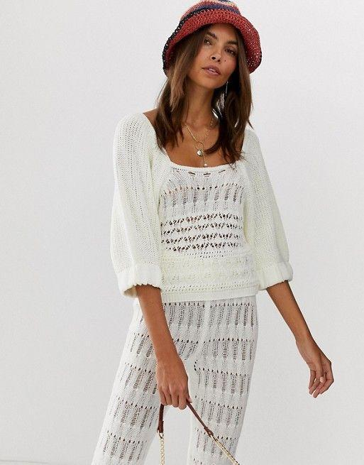 """<p><strong>Asos DESIGN</strong></p><p>us.asos.com</p><p><strong>$16.00</strong></p><p><a href=""""https://go.redirectingat.com?id=74968X1596630&url=https%3A%2F%2Fwww.asos.com%2Fus%2Fasos-design%2Fasos-design-two-piece-crochet-puff-sleeve-top%2Fprd%2F11576534&sref=https%3A%2F%2Fwww.goodhousekeeping.com%2Fbeauty%2Ffashion%2Fg31811906%2Fcute-summer-outfits%2F"""" rel=""""nofollow noopener"""" target=""""_blank"""" data-ylk=""""slk:Shop Now"""" class=""""link rapid-noclick-resp"""">Shop Now</a></p><p>Make your favorite crochet top look more modern by pairing it with structured pants or a pencil skirt in a bright color. </p>"""