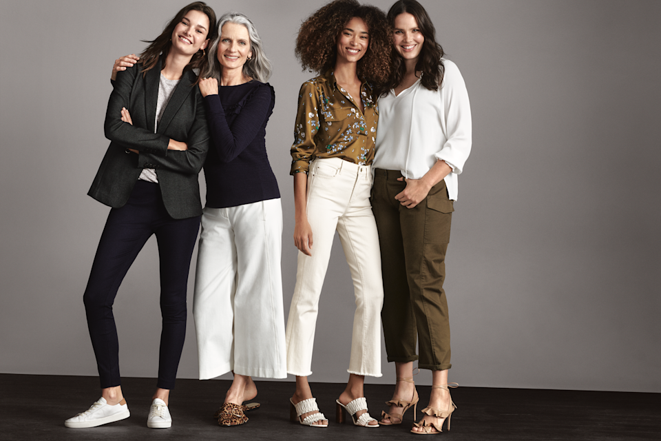 """Ann Taylor's """"Pants Are Power"""" 2018 campaign """"commemorates the evolution of pants not only in fashion, but as a symbol of equality for women,"""" says the company. (Photo: Ann Taylor)"""
