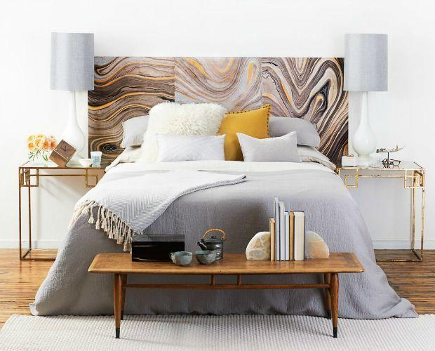 "<p>Accent the neutral palette of this statement piece with gold touches and slim lamps for instant polish. </p><p><a href=""https://www.goodhousekeeping.com/home/decorating-ideas/tips/a26406/bedroom-makeover-headboard-diy/"" rel=""nofollow noopener"" target=""_blank"" data-ylk=""slk:Get the tutorial »"" class=""link rapid-noclick-resp""><em>Get the tutorial »</em></a><br></p>"