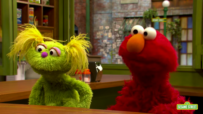 Sesame Street introduces new muppet Karli, whose mother is struggling with addiction. (Credit: Sesame Street)
