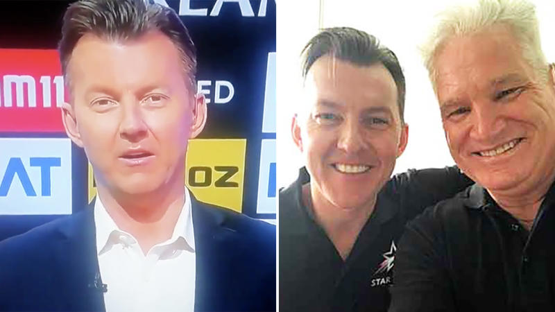Brett Lee, picture here speaking after the death of Dean Jones.