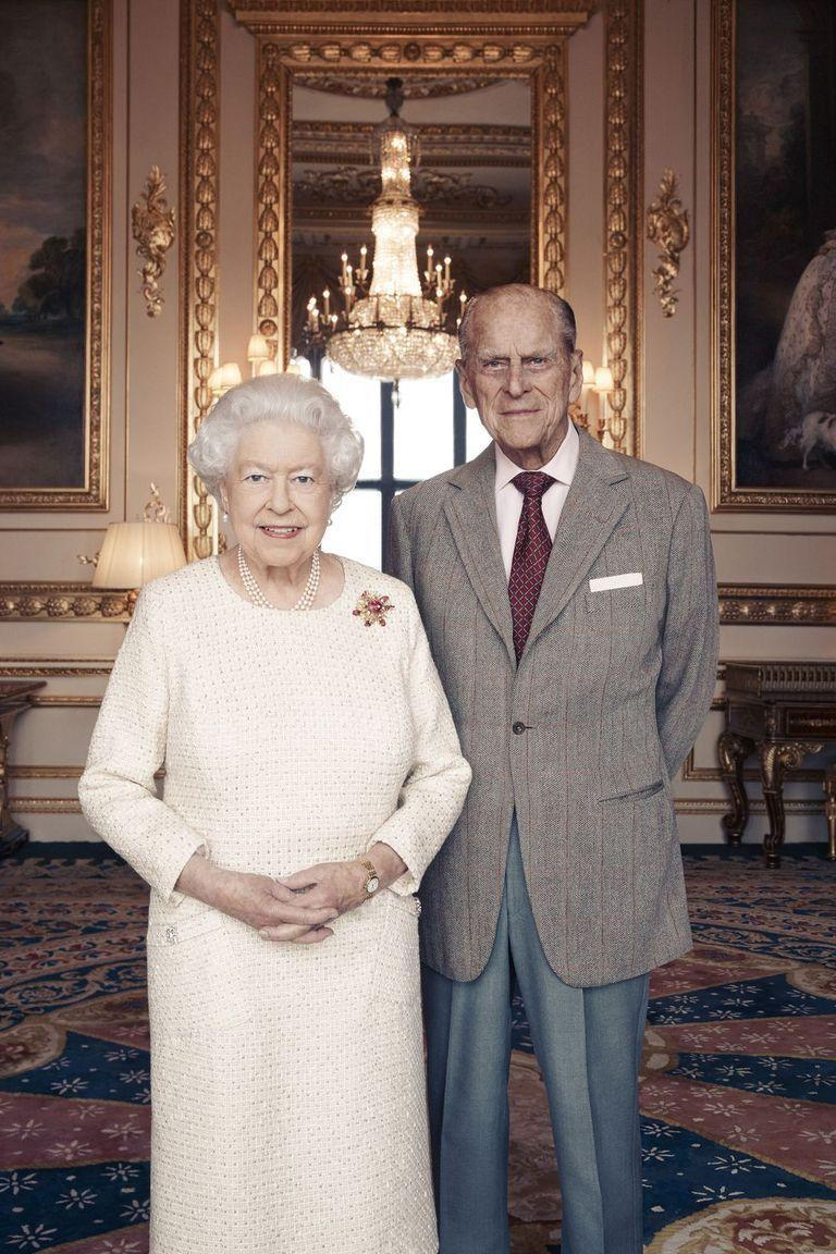 <p>Queen Elizabeth II and Prince Philip pose for portraits celebrating their 70th wedding anniversary. The pictures were taken by British photographer Matt Holyoak in the White Drawing Room at Windsor Castle in early November.</p>