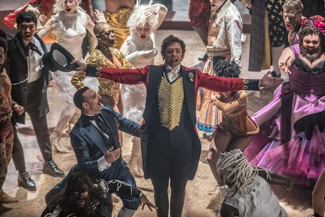 """""""The Greatest Showman"""" hasn't screened for press yet, but trailers indicate it will be a doozy. Fox is also desperately pushing """"Logan,"""" but performers can only receive one nomination per category. Assuming that months-old superhero jointdoesn't attract some strange 11th-hour resurgence, Jackman's circus-musical extravaganza, in which he portrays P.T. Barnum, will have to do the heavy lifting. Because of their lavish production design, musicals arecatnip for the academy -- even """"Nine"""" managed four nominations."""