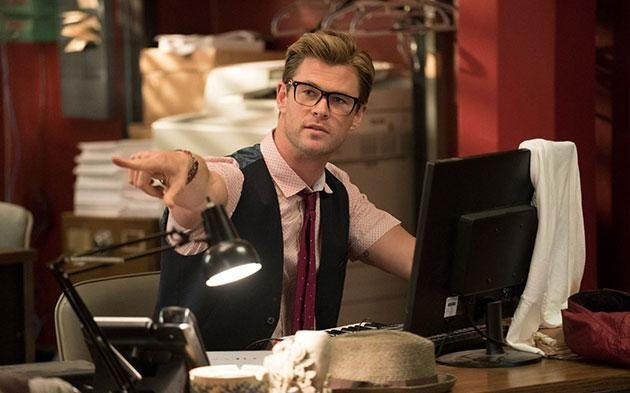Chris Hemsworth in <i>Ghostbusters</i>. Photo: Sony Pictures