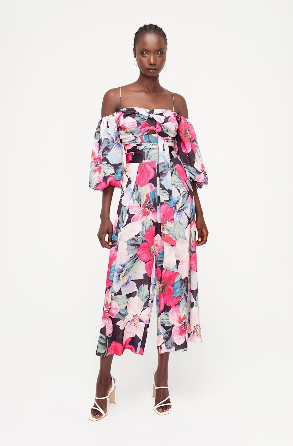 Full Bloom Pants, $79, was $129.95, and Full Bloom Top, $59, was $109.95