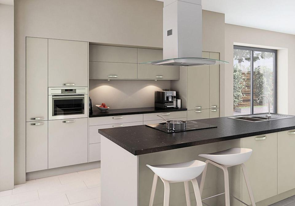 """<p>Want to maximise your island? Make your cooking area the centrepiece of the kitchen by installing a hob and extractor fan within your kitchen island. Not only will it allow you to be more sociable as you cook, but it will save on vital surface space, too. </p><p>• See more: the <a href=""""https://go.redirectingat.com?id=127X1599956&url=https%3A%2F%2Fwww.homebase.co.uk%2Four-range%2Fkitchens%2Fkitchen-ranges%2Fcamberwell&sref=https%3A%2F%2Fwww.housebeautiful.com%2Fuk%2Fdecorate%2Fkitchen%2Fg36940747%2Fkitchen-island-ideas%2F"""" rel=""""nofollow noopener"""" target=""""_blank"""" data-ylk=""""slk:House Beautiful Camberwell kitchen"""" class=""""link rapid-noclick-resp"""">House Beautiful <strong>Camberwell</strong> kitchen</a> at Homebase</p>"""