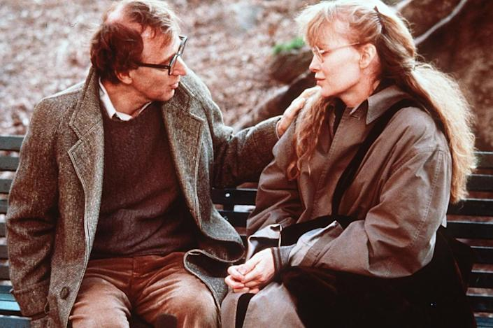 """Woody Allen and Mia Farrow appear in a scene from the 1989 movie """"Crimes and Misdemeanors."""""""