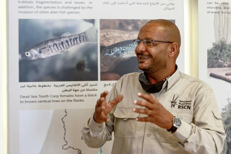 Ibrahim Mahasneh, director of the Fifa Nature Reserve and member of the Royal Jordanian Society for the Conservation of Nature