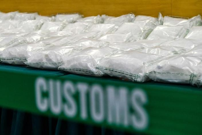 The shipment seized in Hong Kong originated in Mexico (AFP Photo/ANTHONY WALLACE)